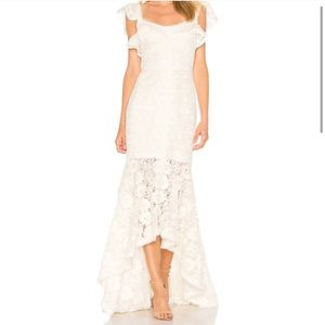 Alexis Zander Ivory Lace Gown Dress